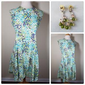 Dresses & Skirts - Vintage Handmade Floral Dress & Matching Earrings